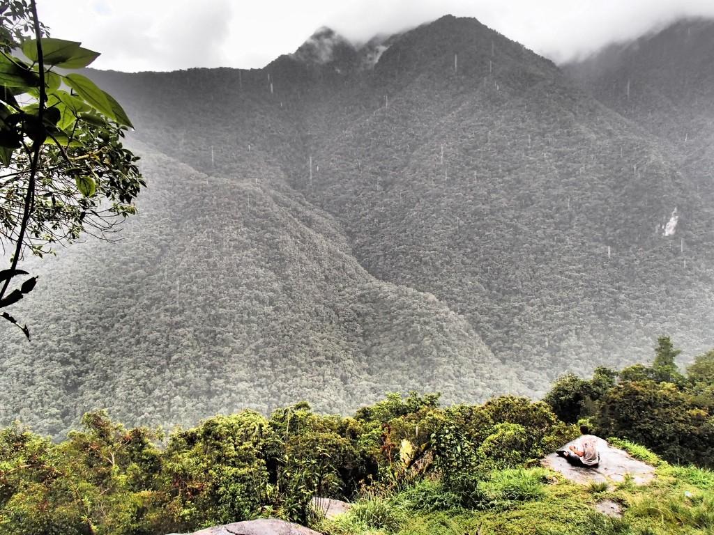 Meditating in Peru